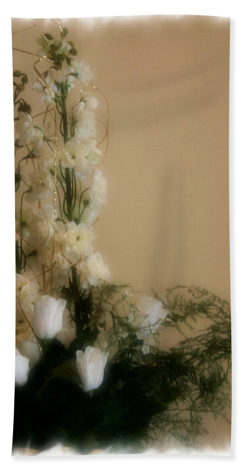 Roses Beach Towel featuring the photograph Soft Whites by Kristin Elmquist