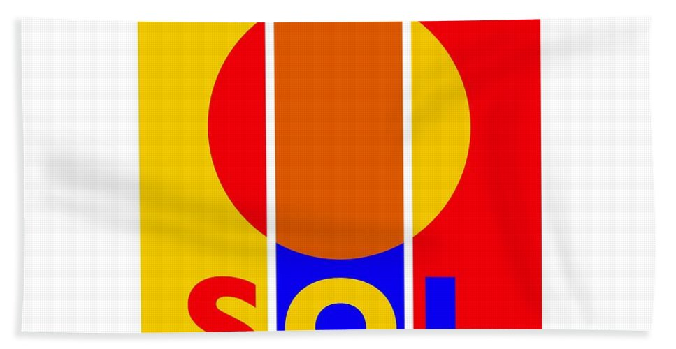 Primary Colors Beach Towel featuring the painting Solar by Charles Stuart