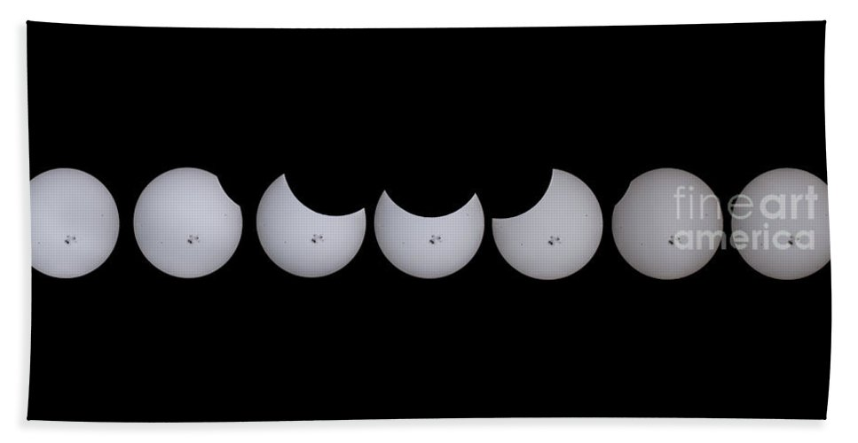 Sun Beach Towel featuring the photograph Solar Eclipse by Mark Jackson