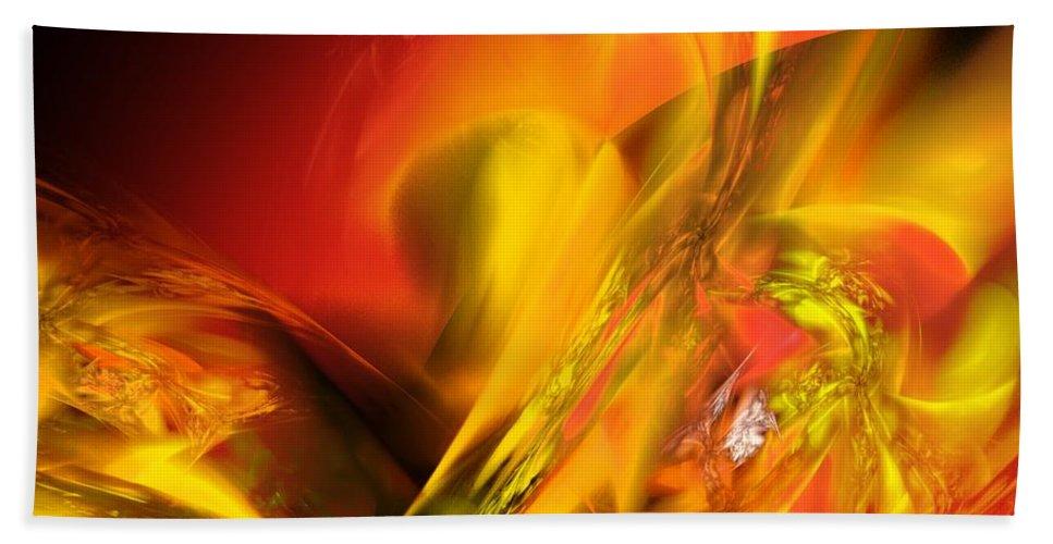Digital Painting Beach Towel featuring the digital art Solar Storm by David Lane