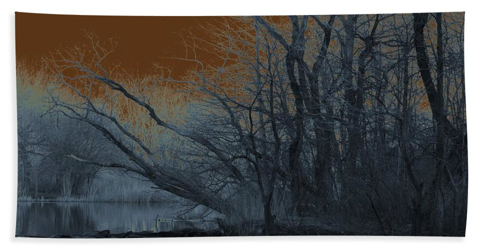 Solarization Beach Towel featuring the photograph Solarization by Kendall Eutemey