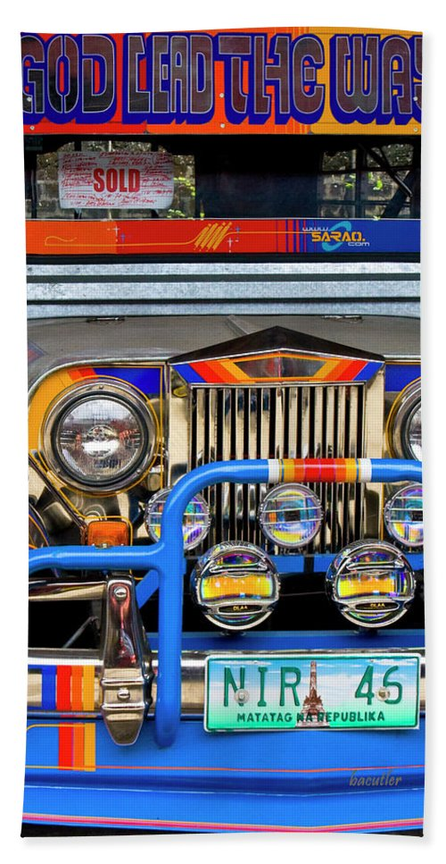 Jeepney Beach Towel featuring the photograph Sold by Betsy Knapp