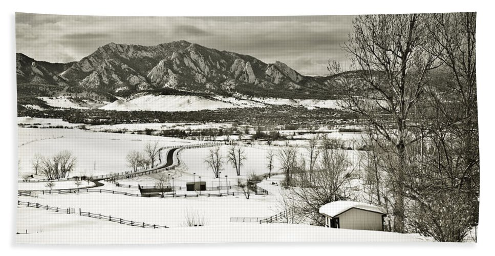 Boulder Beach Towel featuring the photograph Solitude in Boulder County by Marilyn Hunt