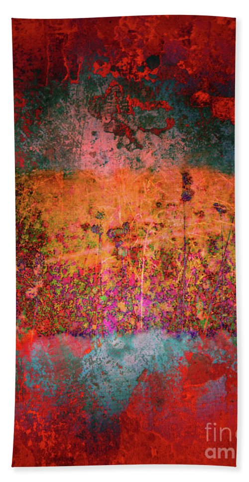 Texture Beach Towel featuring the digital art Sometime In The Beginning by Tara Turner