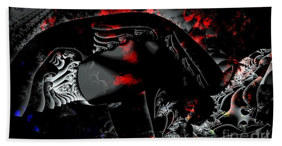 Nebula Beach Towel featuring the digital art Somewhere In The Black Nebula by Ron Bissett