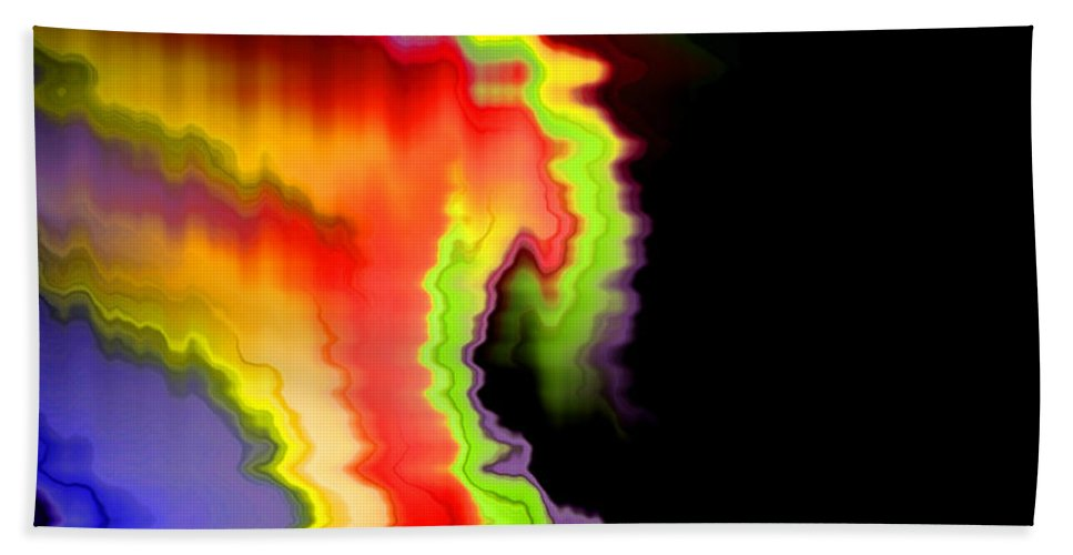 Abstract Beach Towel featuring the digital art Somewhere In The Night by Ruth Palmer