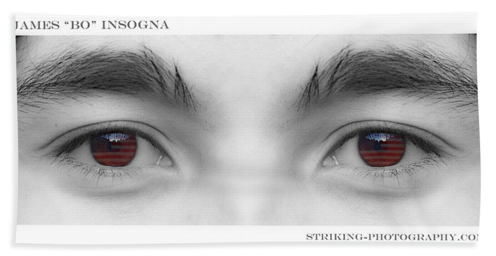 Eyes Beach Towel featuring the photograph Son's Eyes by James BO Insogna