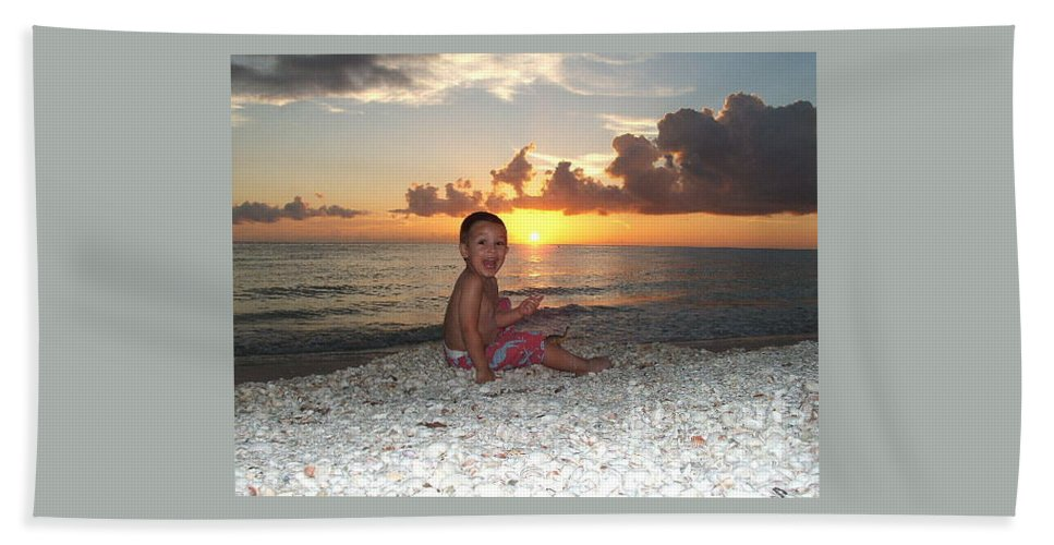 Sunset Beach Towel featuring the photograph Sonsun by Michelle S White