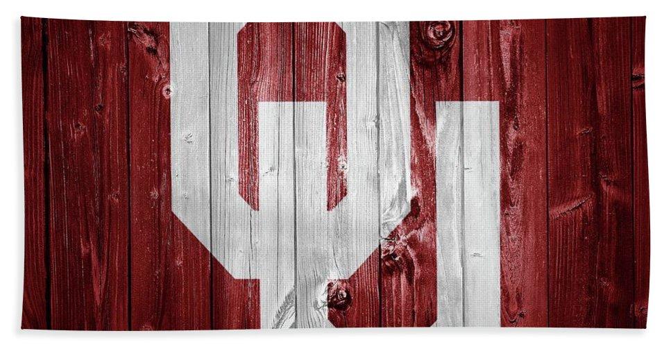 Sooners Barn Door Beach Towel featuring the photograph Sooners Barn Door by Dan Sproul