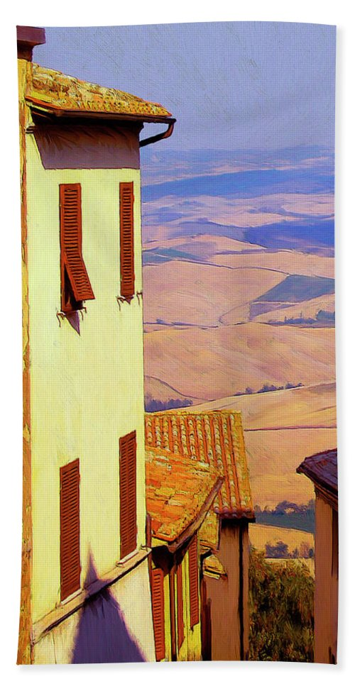 Italy Beach Towel featuring the painting Sopratutto by Dominic Piperata