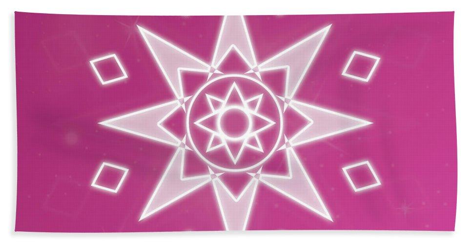 Abstract Beach Towel featuring the digital art Soul Star by Sallie Keys