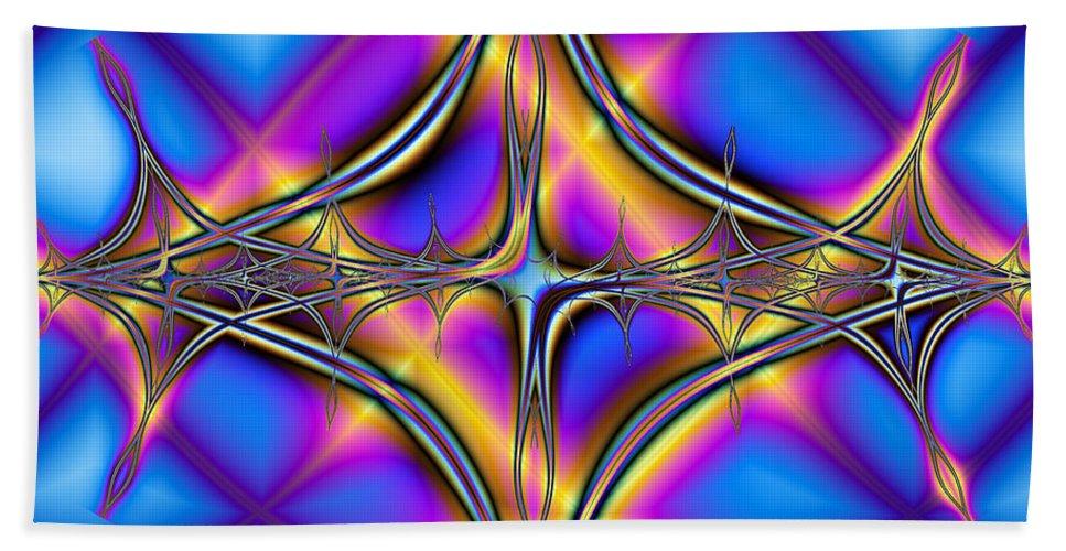 Fractal Beach Towel featuring the digital art Soulmates by Debra Martelli