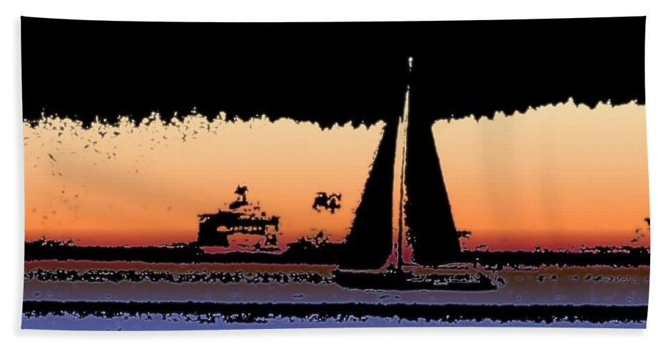 Seattle Beach Towel featuring the photograph Sound Sailin 2 by Tim Allen