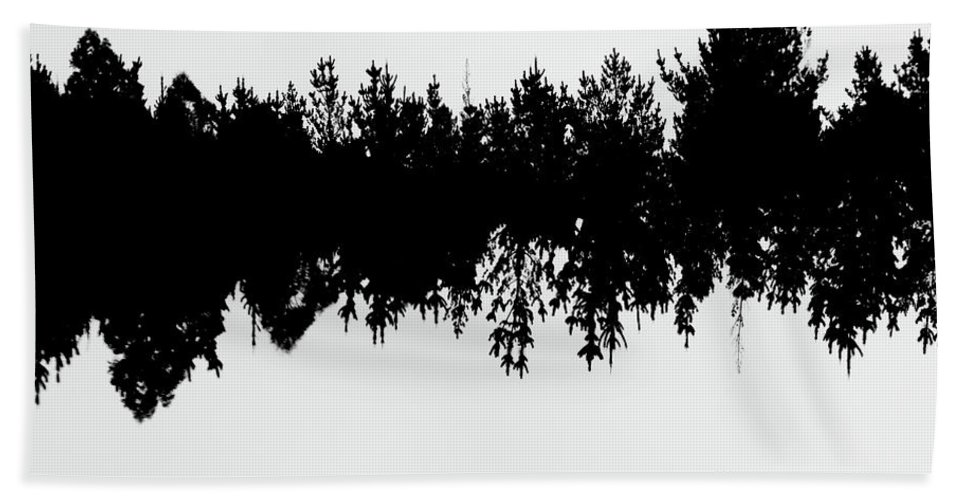 Abstract Beach Towel featuring the photograph Sound Waves Made Of Trees Reflected by Jorgo Photography - Wall Art Gallery