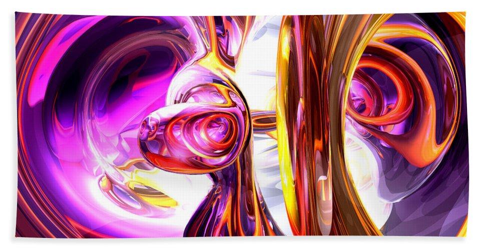 3d Beach Towel featuring the digital art Soundwave Abstract by Alexander Butler