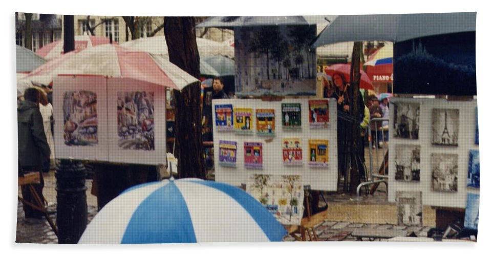 Paris Beach Towel featuring the photograph Sous La Parapluie by Maria Joy