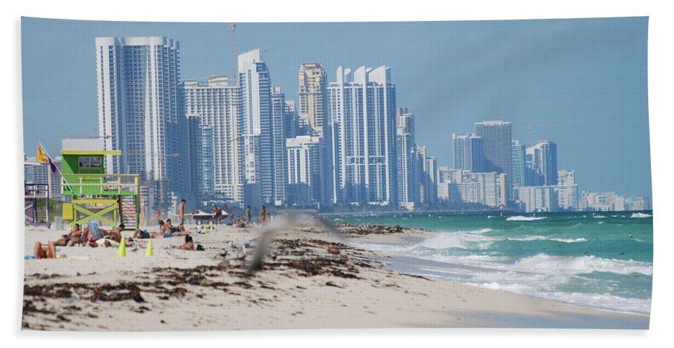 South Beach Beach Towel featuring the photograph South Beach Baby by Rob Hans