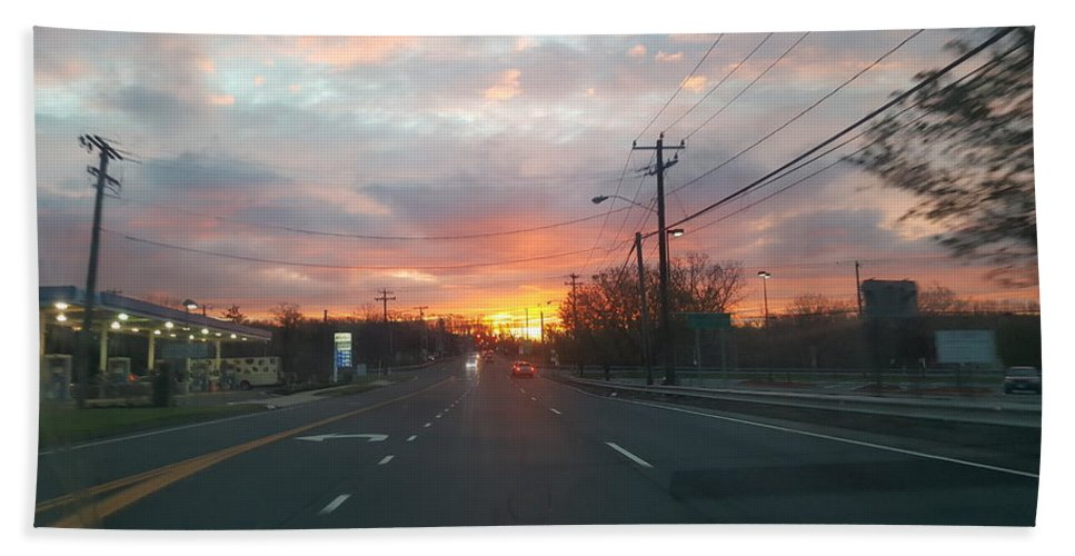 Connecticut Beach Towel featuring the photograph South End Sun Rise by Kevin Humphrey