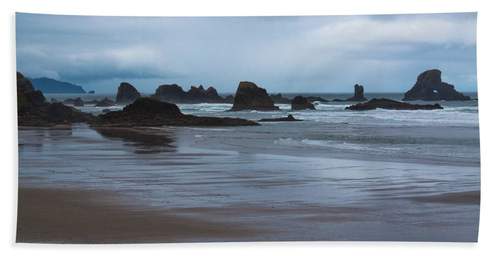 South Of Indian Beach Beach Towel featuring the photograph South Of Indian Beach by David Patterson