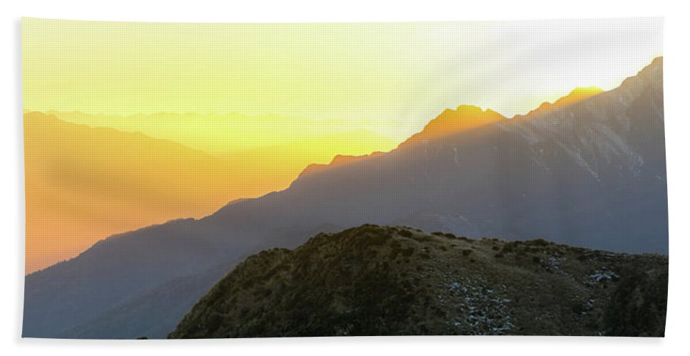 Sunrise Beach Towel featuring the photograph Southern Alps Sunrise by Martin Capek