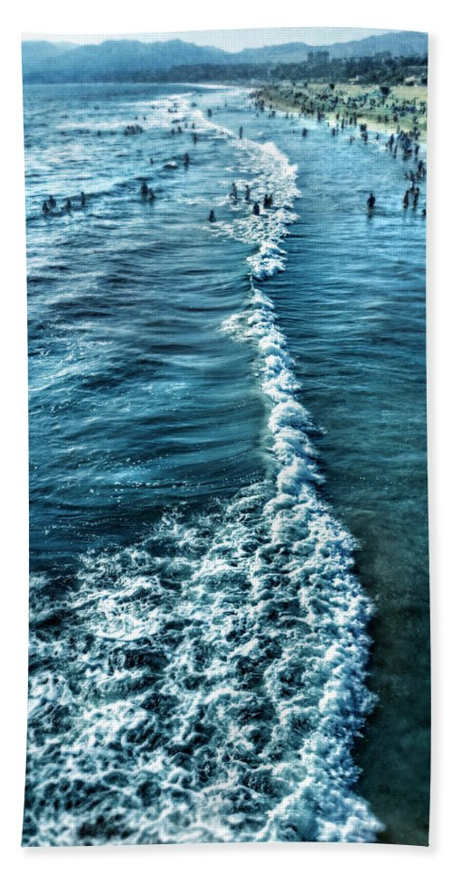 Beach Beach Towel featuring the photograph Southern California Beach by Jill Battaglia