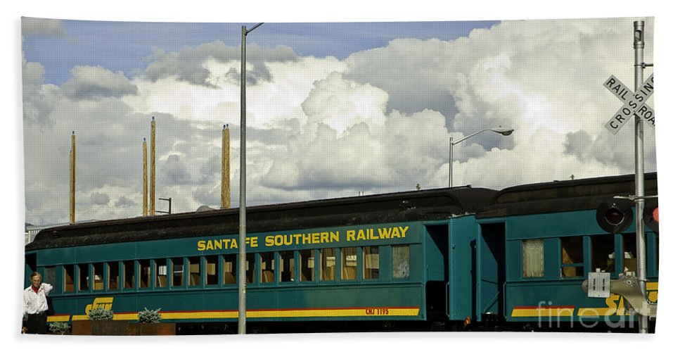 Rail Beach Towel featuring the photograph Southern Railway by Madeline Ellis