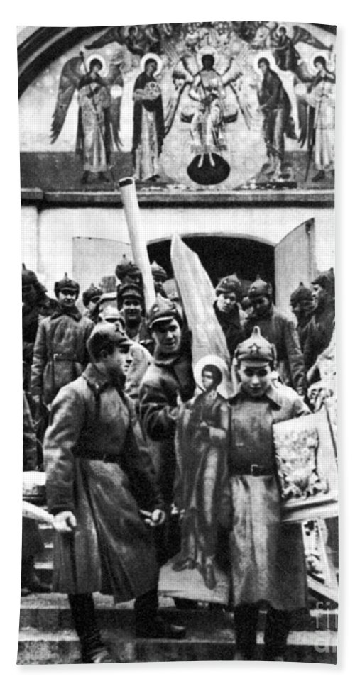 1920s Beach Towel featuring the photograph Soviet Anti-religion Policy by Granger