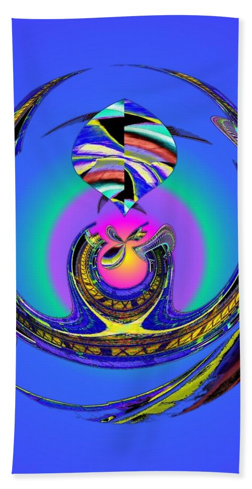 Seattle Beach Towel featuring the digital art Space Needle And The Experience Music Project Two by Tim Allen