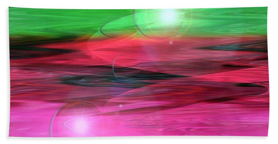 Space Art Beach Towel featuring the digital art Space Oddity by Linda Sannuti