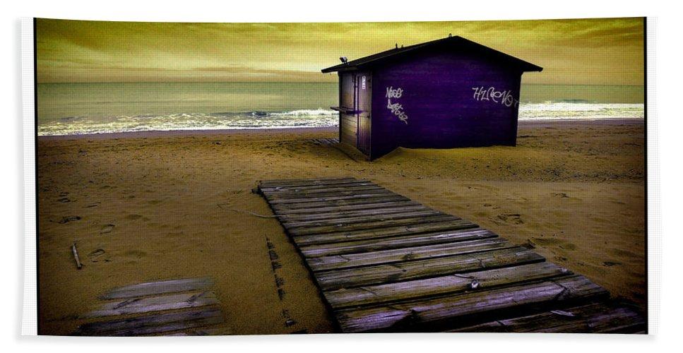 Beach Beach Towel featuring the photograph Spanish Beach Hut by Mal Bray
