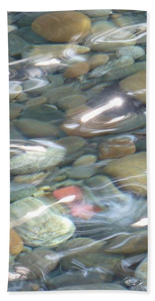 Sparkling Water Beach Towel featuring the photograph Sparkling Water On Rocky Creek 2 by Carol Groenen