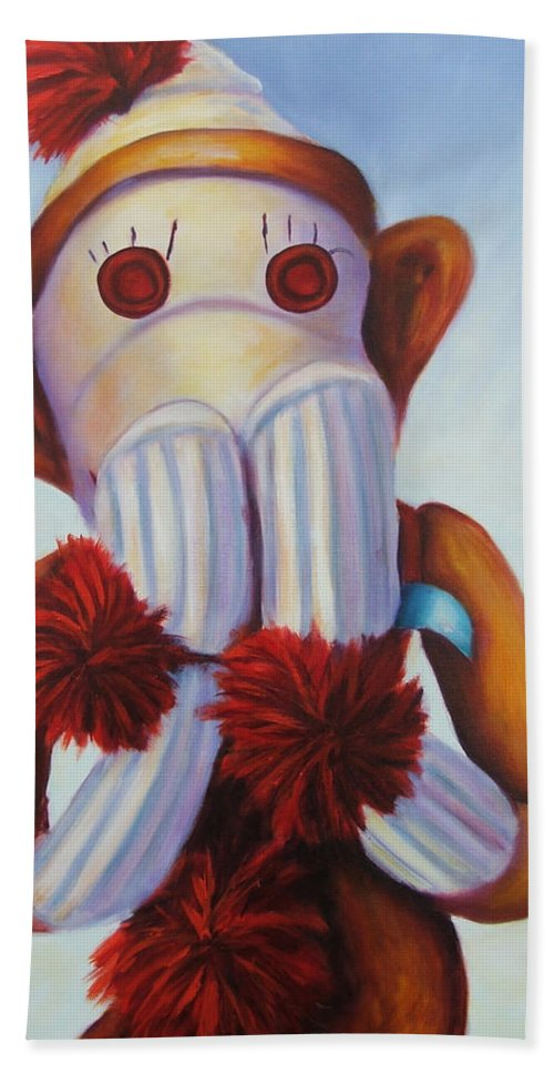 Children Beach Towel featuring the painting Speak No Bad Stuff by Shannon Grissom