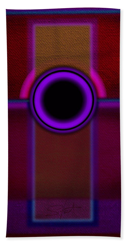Portal Beach Towel featuring the painting Speaker by Charles Stuart