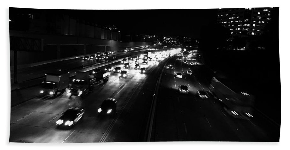 Traffic Beach Towel featuring the photograph Speed Home by Daniel Frey