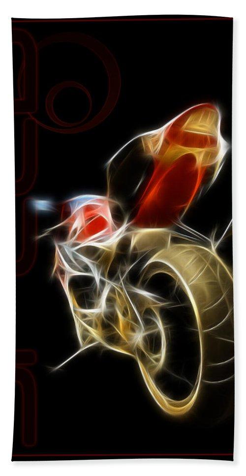 Motorcycle Beach Towel featuring the digital art Speed by Ricky Barnard