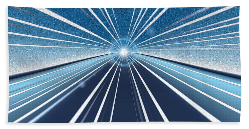 Speed Beach Towel featuring the digital art Speed by Tim Allen