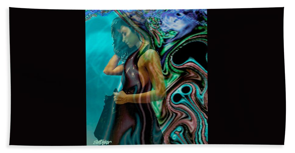 Beautiful Women Beach Towel featuring the digital art Spell Of A Woman by Seth Weaver