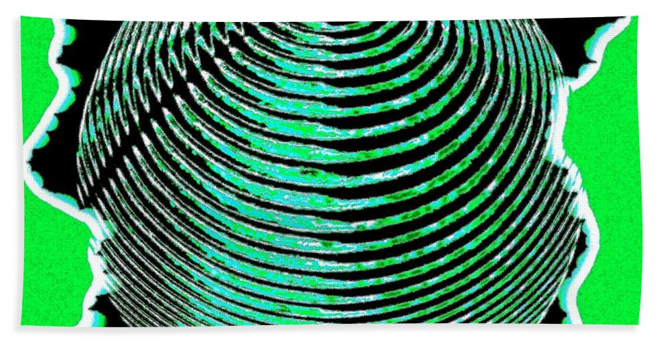 Sphere Beach Towel featuring the digital art Sphere In Green by Will Borden
