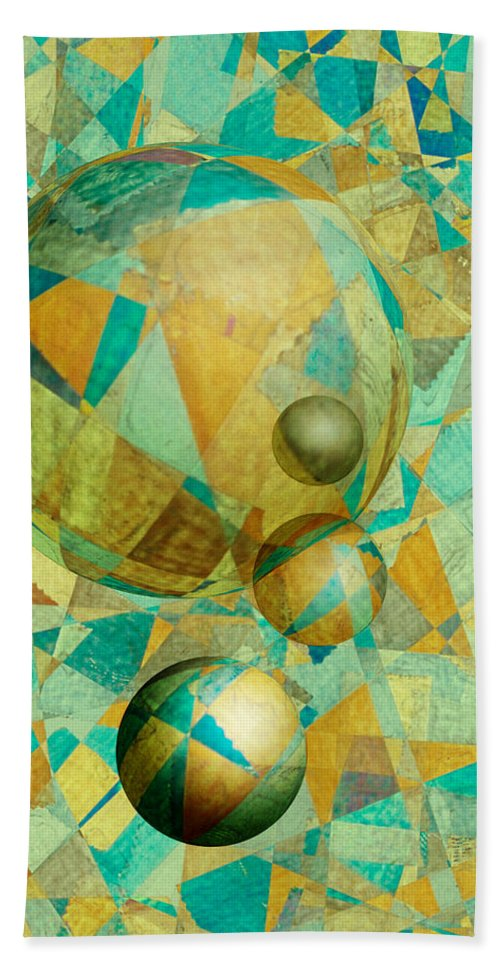 Abstract. Spheres Beach Towel featuring the photograph Spheres Of Life's Changes by Jerry McElroy