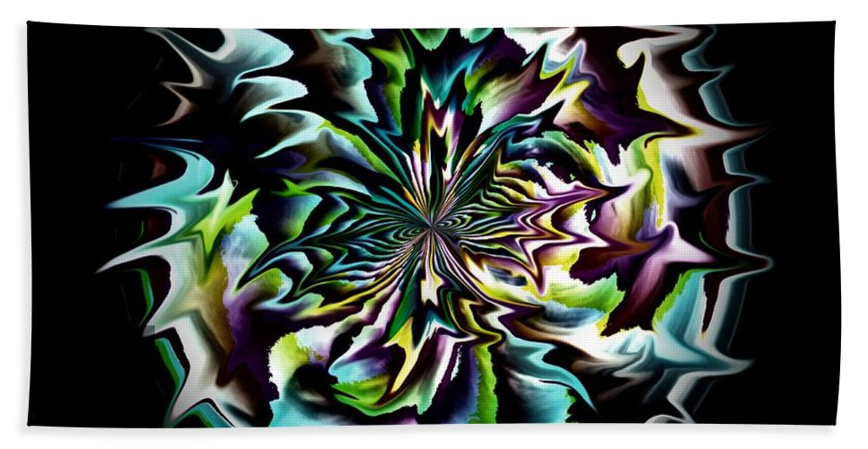 Black Beach Towel featuring the digital art Spiked Ball by Charleen Treasures