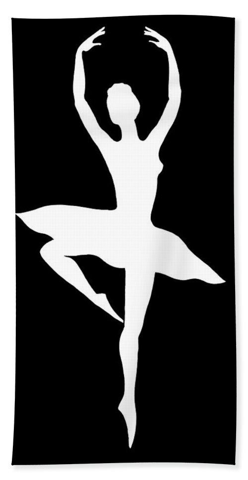 Spin Of Ballerina Silhouette Beach Towel