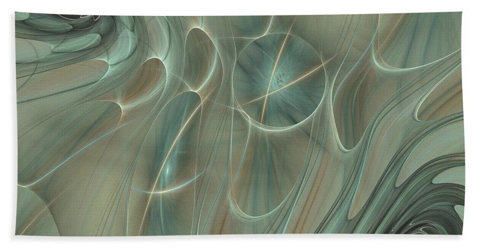 Fractal Beach Towel featuring the digital art Spinning Galaxies by Deborah Benoit