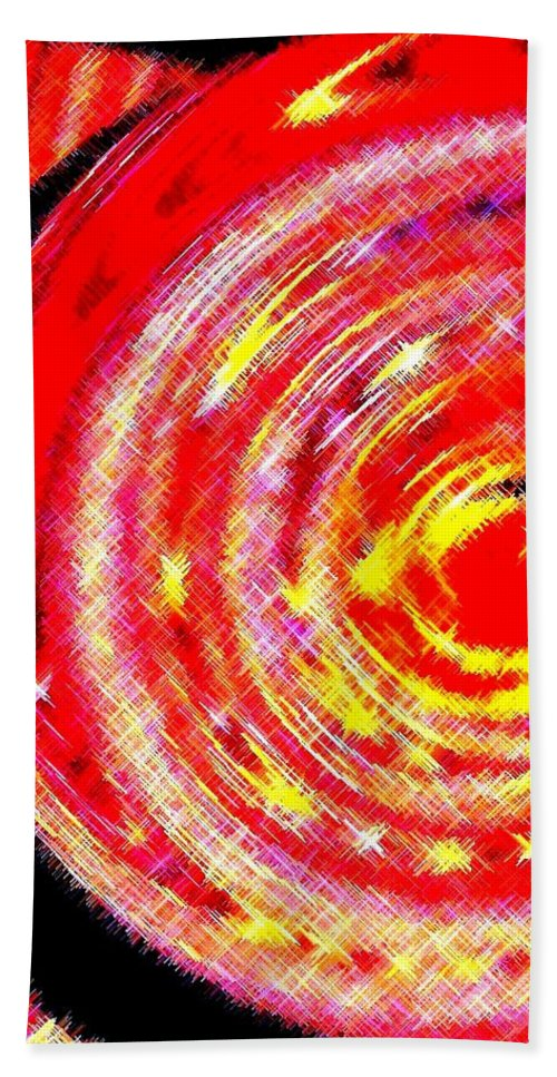 Abstract Beach Towel featuring the digital art Spinoff by Will Borden