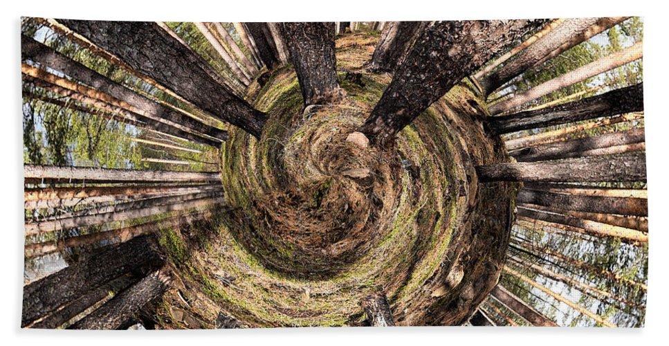 Lehtokukka Beach Towel featuring the photograph Spiral Of Forest by Jouko Lehto