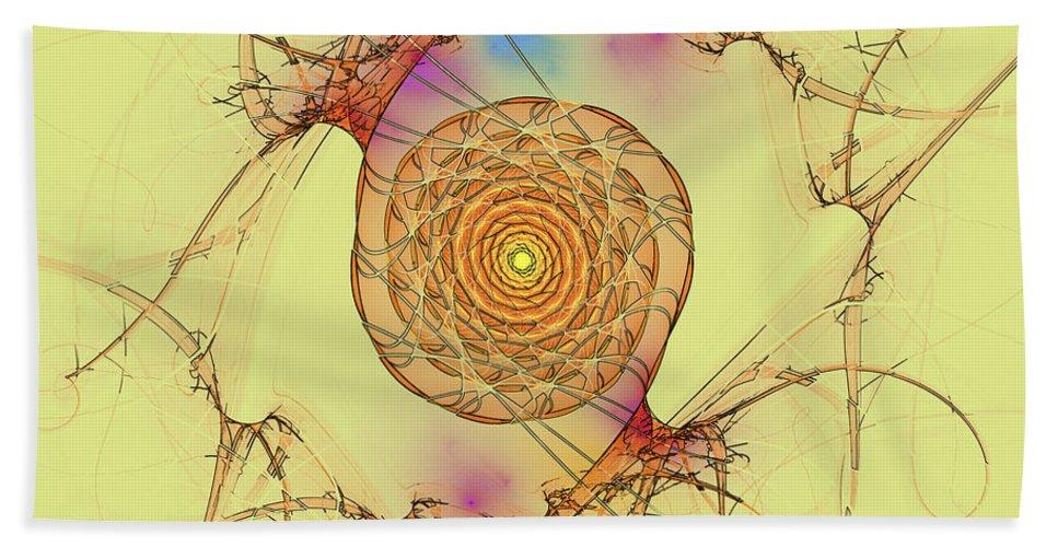 Digital Beach Towel featuring the digital art Spiral Pupil by Deborah Benoit