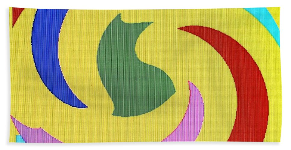 Abstract Beach Towel featuring the digital art Spiral Three by Ian MacDonald