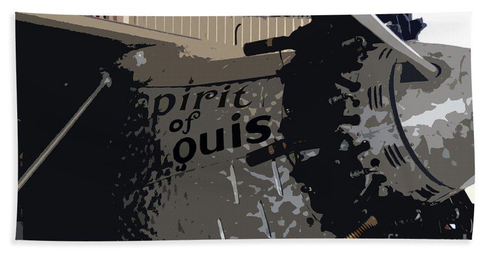Spirit Of Saint Louis Beach Towel featuring the painting Spirit Of Saint Louis by David Lee Thompson