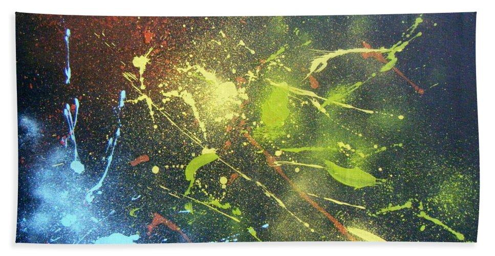 Splash Beach Towel featuring the painting Splash by Olaoluwa Smith