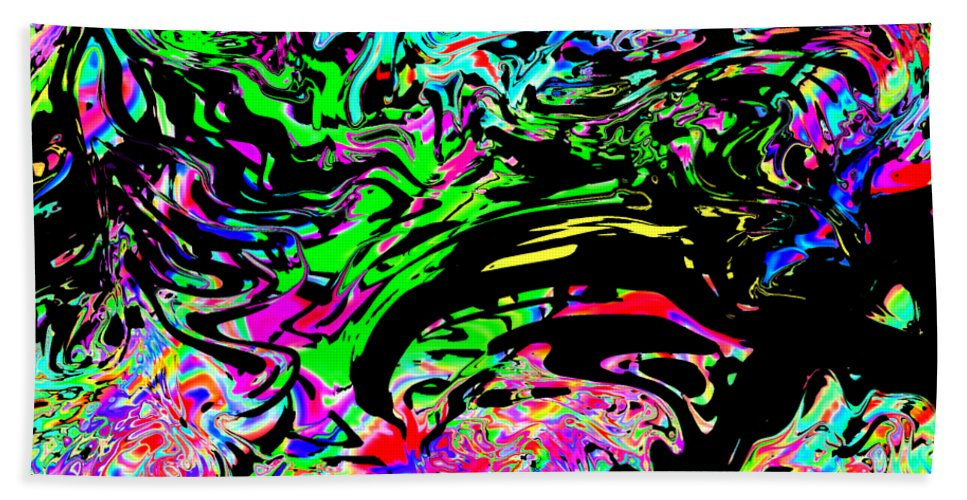 Colors Beach Towel featuring the digital art Splashe by Blind Ape Art