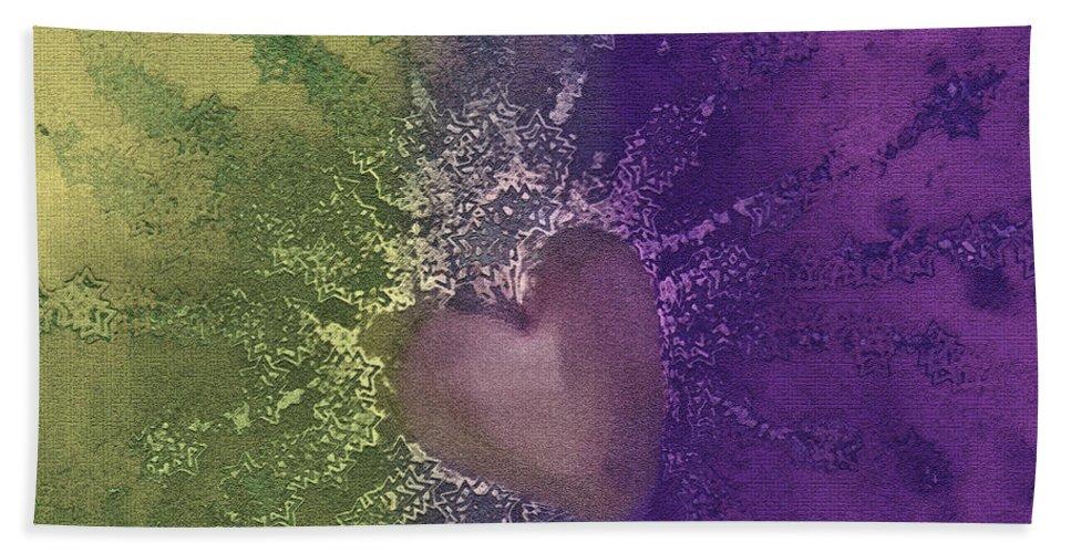 Hearts Beach Towel featuring the digital art Splattered Ink by Linda Sannuti